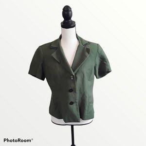 Studio I Linen Blend Short Sleeve Blazer Jacket